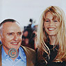 Claudia Schiffer and Dennis Hopper